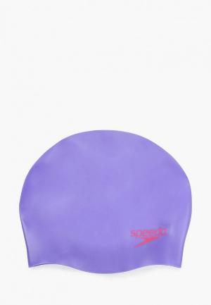 Шапочка для плавания Speedo. Цвет: фиолетовый