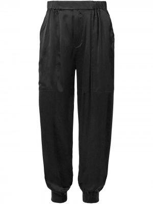 Зауженные брюки Neha Nicholas. Цвет: черный