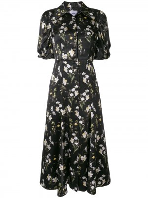 Платье Gisella с принтом Erdem. Цвет: черный