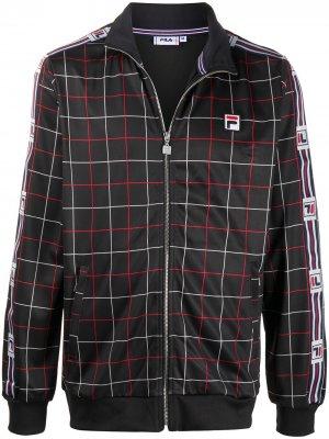 Спортивная куртка с принтом Fila. Цвет: черный