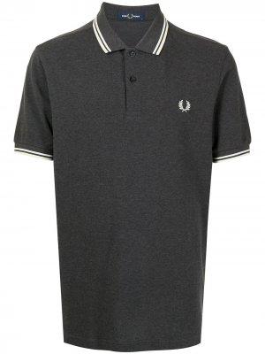 Рубашка поло с монограммой FRED PERRY. Цвет: серый