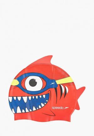 Шапочка для плавания Speedo. Цвет: красный
