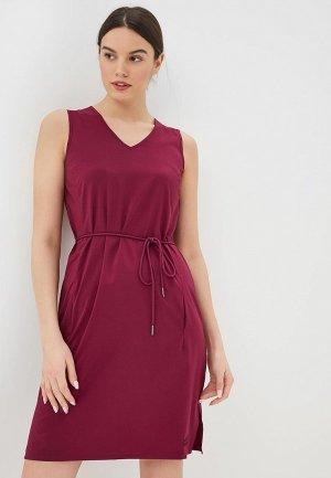 Платье Jack Wolfskin. Цвет: бордовый