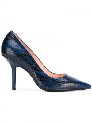 Snakeskin effect pumps Anna F.. Цвет: синий
