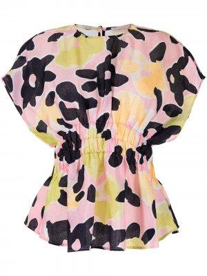 Блузка Leila с цветочным принтом Stine Goya. Цвет: розовый