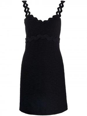 Платье с волнистой окантовкой Pinko. Цвет: черный