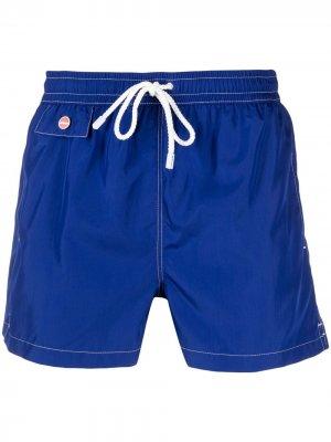 Плавки-шорты с кулиской Kiton. Цвет: синий