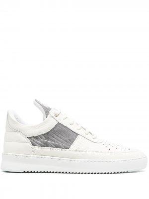 Высокие кроссовки на шнуровке Filling Pieces. Цвет: белый
