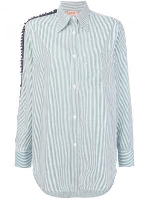 Рубашка с панелями бусинами Nº21. Цвет: зеленый