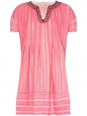 Платье Wubet в полоску lemlem. Цвет: розовый