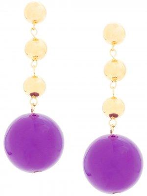 Серьги-подвески Eshvi. Цвет: фиолетовый