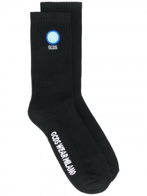 Носки с жаккардовым логотипом Gcds. Цвет: черный