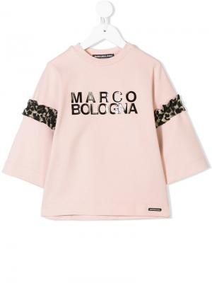Туника с принтом логотипа Marco Bologna Kids. Цвет: розовый