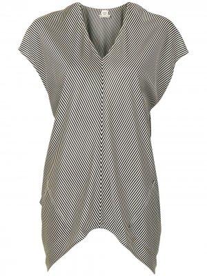 Полосатая блузка pre-owned Hermès. Цвет: белый