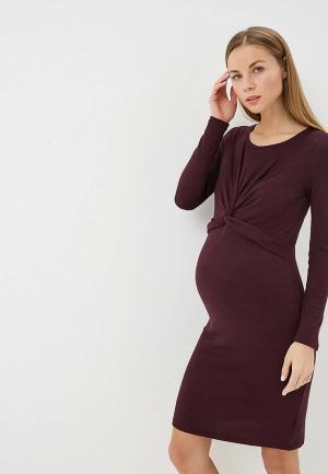 Платье Gap Maternity. Цвет: бордовый