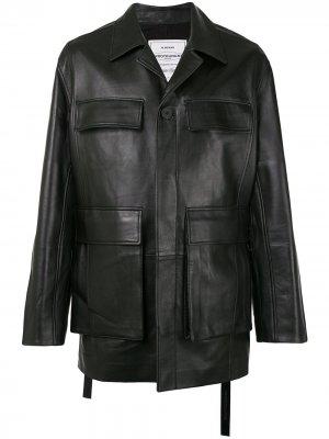 Однобортная куртка Wooyoungmi. Цвет: черный