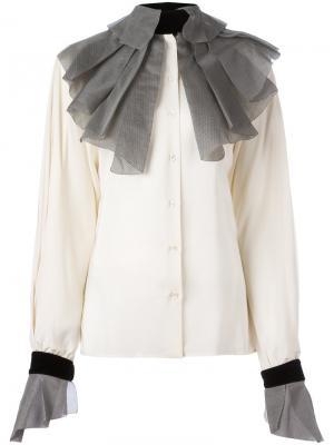 Рубашка с гофрированным воротником и манжетами Gianfranco Ferré Pre-Owned. Цвет: нейтральные цвета