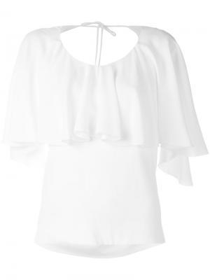 Блузка с оборками Antonio Berardi. Цвет: белый