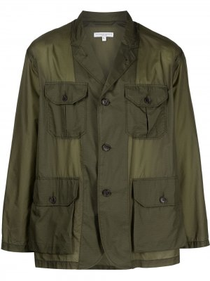 Клетчатая куртка-рубашка Folk Engineered Garments. Цвет: зеленый