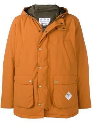 Midi hooded jacket Barbour. Цвет: оранжевый