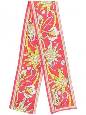 Платок с цветочным принтом Emilio Pucci. Цвет: желтый