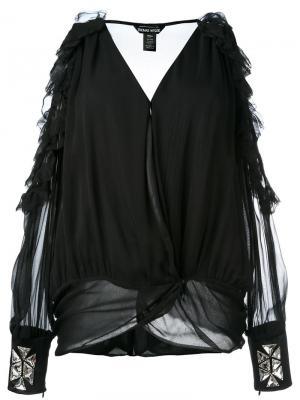 Блузка с вырезами на плечах Thomas Wylde. Цвет: черный