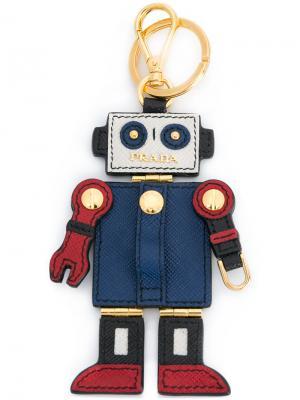 Брелок в виде робота Prada. Цвет: разноцветный