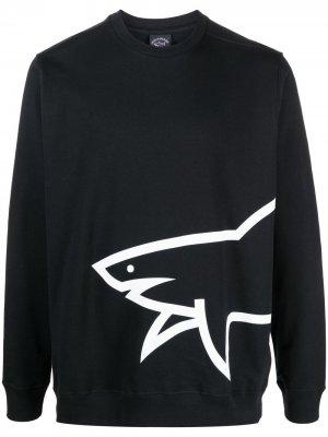 Толстовка с круглым вырезом и логотипом Paul & Shark. Цвет: черный