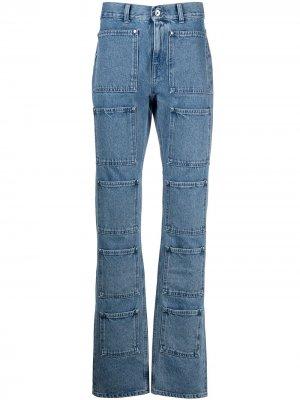 Расклешенные джинсы с завышенной талией Lourdes. Цвет: синий