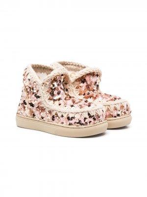 Ботинки Eskimo с пайетками Mou Kids. Цвет: розовый
