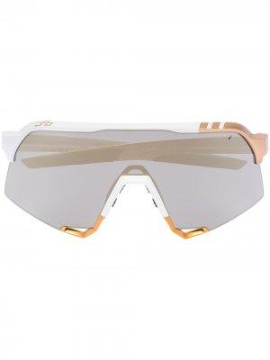 Спортивные солнцезащитные очки S3 100% Eyewear. Цвет: белый