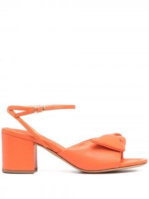 Босоножки Clarita на блочном каблуке Alexandre Birman. Цвет: оранжевый