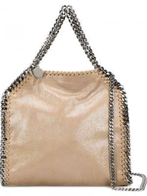 Маленькая сумка-тоут Falabella Stella McCartney. Цвет: нейтральные цвета