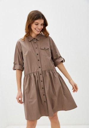 Платье Baon. Цвет: коричневый