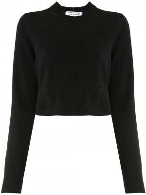 Уороченный джемпер с длинными рукавами Comme Des Garçons. Цвет: черный