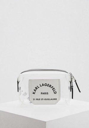 Косметичка Karl Lagerfeld. Цвет: белый
