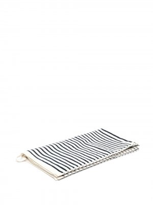 Полотенце в полоску TEKLA. Цвет: белый