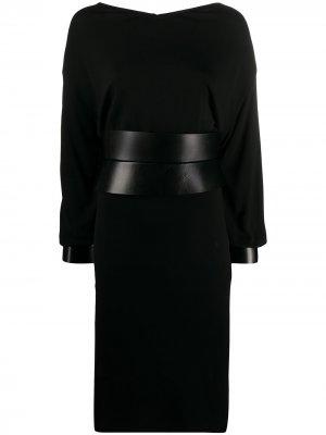 Платье миди с поясом Tom Ford. Цвет: черный