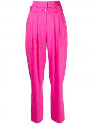 Зауженные брюки с завышенной талией IRO. Цвет: розовый