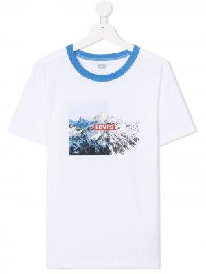 Levis Kids футболка с круглым вырезом и принтом Levi's. Цвет: белый