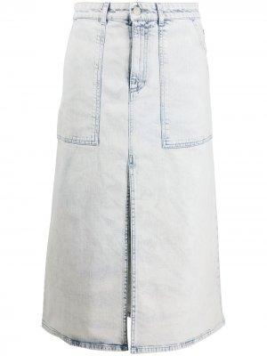 Джинсовая юбка с завышенной талией Stella McCartney. Цвет: синий