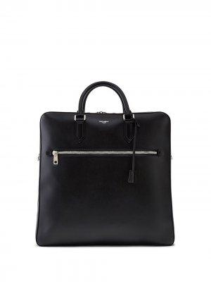 Портфель с логотипом Dolce & Gabbana. Цвет: черный