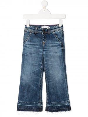 Широкие джинсы средней посадки Tommy Hilfiger Junior. Цвет: синий