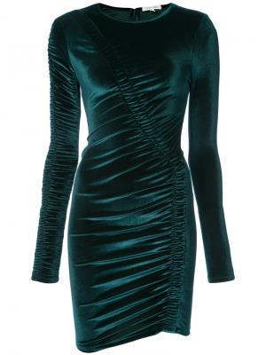 Облегающее платье со сборками Ronny Kobo. Цвет: синий