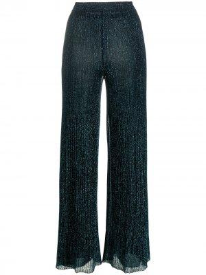 Широкие брюки с эффектом металлик Missoni. Цвет: синий