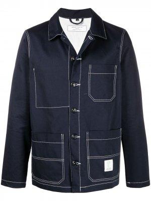 Джинсовая куртка-рубашка Société Anonyme. Цвет: синий