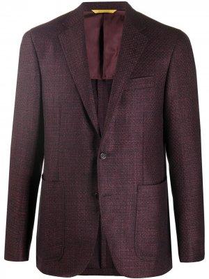 Однобортный пиджак Canali. Цвет: красный