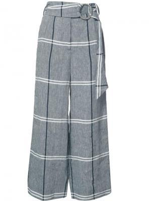 Укороченные брюки в клетку Suno. Цвет: серый