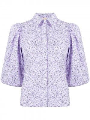 Рубашка с цветочным принтом byTiMo. Цвет: фиолетовый