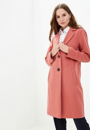 Пальто Marks & Spencer. Цвет: коралловый
